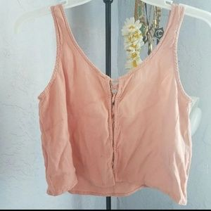 Salmon pink crop top